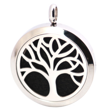 New Design Family Tree 30mm Aromatherapy Essential Oils Stainless Steel pendant Perfume Diffuser Locket Necklace