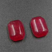 Clearance SALE Clearance Classic Natural Stone Jewelry High Quality Rubies  10x12mm Square Beads-(2 pcs)