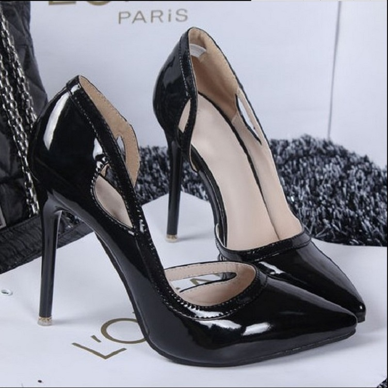 2017 New Fashion Two Piece Pumps Pointed Toe Sexy Patent Leather Spring Super High Heel Ladies Wedding Party Shoes c130 15<br><br>Aliexpress