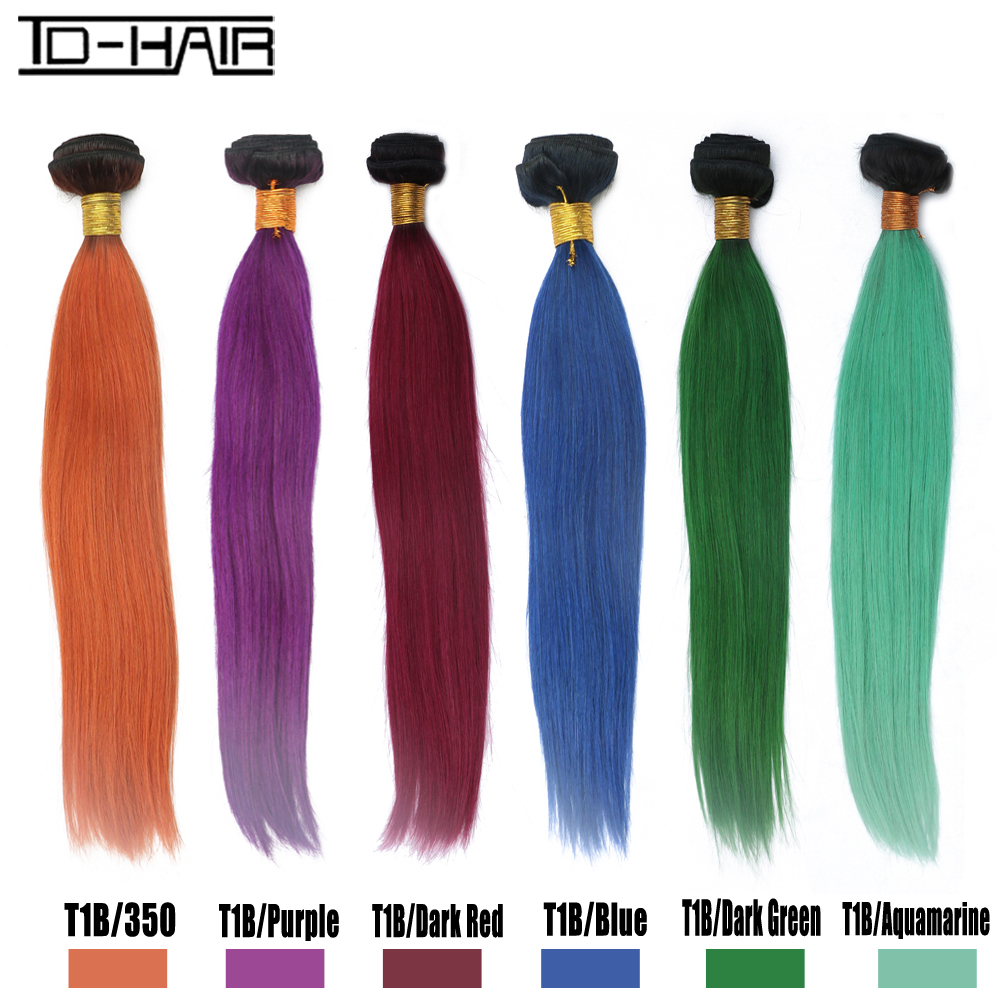 New arrival Brazilian virgin hair straight ombre hair extension bundles 100% human hair weaving products TD HAIR products<br><br>Aliexpress