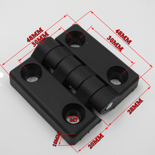 100pcs/packs 48*48*M7 ABS nylon plastic hinge profile or door window connector(China)