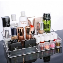 Transparent Acrylic Makeup Cosmetics Organizer Crystal Plastic Desktop Jewelry Storage Box for Bedroom Bathroom Girlfriend Gift(China)