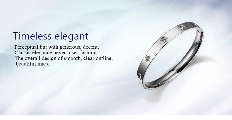 Trendy Rose Gold Love Bracelets Bangles Women Gold Color Stainless Steel Charming CZ Cuff Bracelet Lovers Luxury Brand Jewellery 2