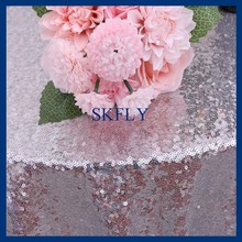 SQ021C good quality many colors available beaded round glitter silver sequin table cloth