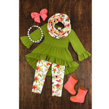 Child Kids Baby Girls Sets Floral Outfits Top Long Pants Leggings 3PCS Clothes Set Baby Girl Fasion Srts Baby Clothing