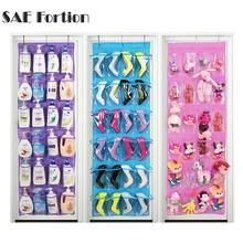 SAE Fortion Shoes Storage Over Clear Door Hanging Shoe Rack Hanger Tidy Organizer 24 Pockets(China)