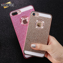KISSCASE Glitter Bling Diamond Back Case For iPhone 5 5S iPhone 4S Luxury Phone Case For iPhone 7 Plus iPhone 6 6S Plus Case(China)