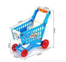 DIY assembly Mini shopping cart child supermarket grocery trolley toy carriages plastic dollhouse miniature stroller for doll(China)