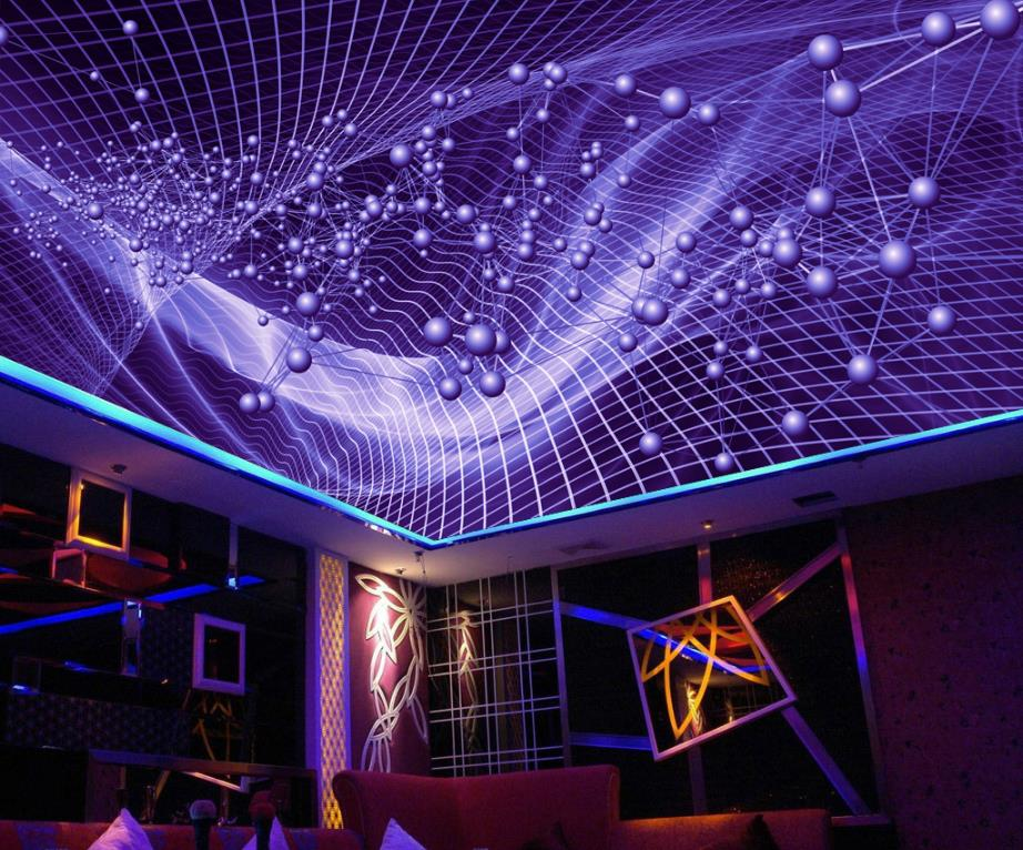 HD Abstract Colorful 3D Stereoscopic Photo Wallpaper 3D Ceiling Living Room Restaurant Hotel Decor Wall paper Rolls<br>