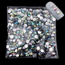 1000pcs/pack 4mm Acrylic Nail Art Glitter Charm AB Rhinestone Crystal Gems 3D Tips Tools DIY Beauty Decoration Phone Manicure(China)