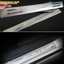 AOSRRUN 2009 2010 2011 2012 2013 For chevrolet Chevy Cruze hatchback stainless steel scuff plate door sill car accessories(China)