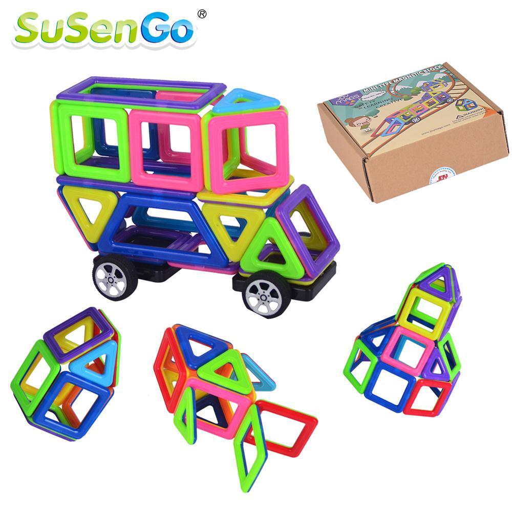 Toy Mini Colorful Magnetic Designer Kits 3D Building Blocks DIY Educational Kids Toys for Children Toddler<br><br>Aliexpress