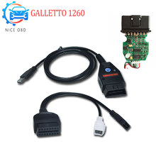 EOBD II Flasher Galletto 1260 OBD/OBDII ECU Chip Tuning Flasher OBDII Compatible Green PCB FTDI Read&Write ECU Chip Tuning Tool(China)