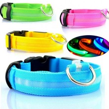 Pet Accessories Safety LED Nylon Pet Dog Collar Light Safety LED Flashing Glow cat dog LED Pet Supplies