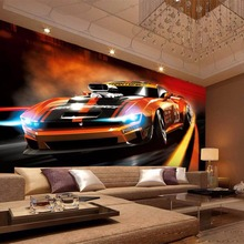 Beibehang custom Any size theme bar in 3 d wallpaper sports car wallpaper KTV background wall murals large photo wallpaper