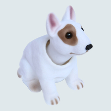 Car Styling New Cute Dog Doll Nodding Dog Shakes Head Shaking Dog For Car Decoration Furnishing Articles Bull Terrier Labrador(China)