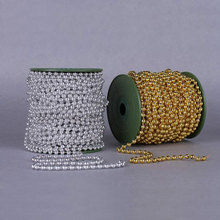 Buy Roll 25Meter Length 4 Colors Bead DIA 6MM Artificial Pearls Bead Garland Spool Rope Wedding Party Prom Home Hanging Decoration for $19.71 in AliExpress store