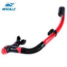 Whale 5 Colors Snorkeling Scuba Full Dry Diving Swimming Snorkel with Silicone Mouthpiece Purge Valve Breathing Tube(China)