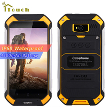 "Original 4.5"" Gorilla Rugged Screen GuoPhone V19 Android 6.0 MTK6580 Quad Core 2GB RAM 16GB ROM Waterproof Shockproof Smartphone"