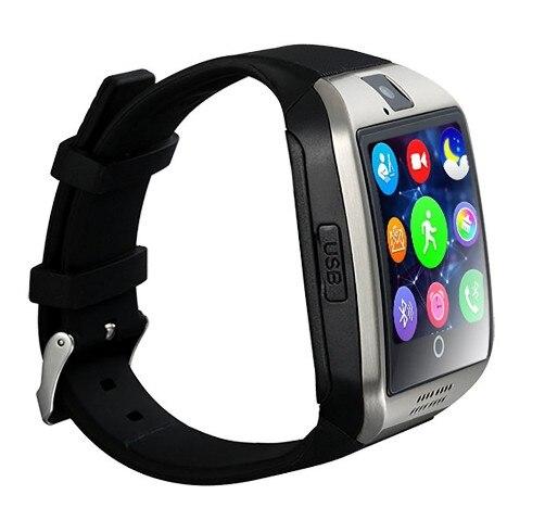 MKUYT Q18 Bluetooth Smart Watch Arc Clock With Sim Card NFC Bluetooth 3.0 Sync Whatsapp Facebook for Smartphone PK DZ09 GT08 A1