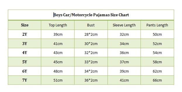 car pajamas size