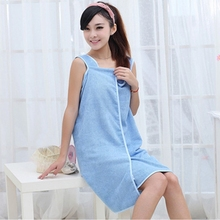 New Design Women Absorbent Shower Spa Body Wrap Bath Towel Soft Towel Dress Bathrobe for Adults