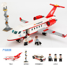 GUDI 334 pcs Airplane Toy Air Bus Model Airplane Building Blocks Sets Model DIY Bricks Classic Boys Toys Compatible Major Brands