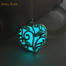 Heart Love Luminous Pendants & Necklaces Women(China)