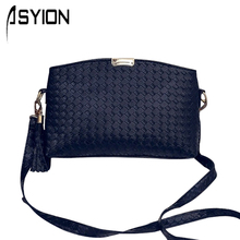 2016 Summer New Shell Woven Women Messenger Bag Korean Female Knitting Shoulder Crossbody Tassel Shell Bag DM111