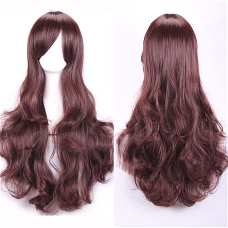 fashion cheap wigs natural hair curly lolita wig long auburn brown anime wig cosplay heat resistant synthetic wigs for womens<br><br>Aliexpress