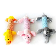 Pet Supplies Dog Puppy Toys Chew Squeaker Squeaky Plush Sound Duck Pig & Elephant Toys(China)