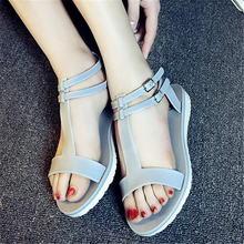Summer sandals flat brief fashion comfort zone women's shoes all-match sandals open toe slippers