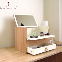 mini portable wooden dresser with mirror