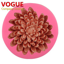 NEW 3D big Chrysanthemums Flower Soap Silicone Molds Fondant Cake Decorating Tools Resin Clay Candle Mold Kitchen Baking Moulds