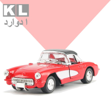 KL Children Gift 1:32 Scale Metal Classic Alloy Pull Car With Light And Music Retro Boy Mini Toy Cad Ford Model Four Color 6A#(China)