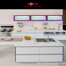 Hot sales modern high gloss white lacquer kitchen cabinets customized modular kitchen furnitures(China)