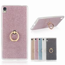Buy Sony XA Ultra Case Silicone Soft Back Cover Sony Xperia C6 Case Finger Ring Glitter Powder Phone Case Sony F3212 F3216 for $2.79 in AliExpress store