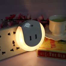 Double USB Bedside Charger LED Light Induction Control Night Lamp dual USB Interface Sensor Night Light