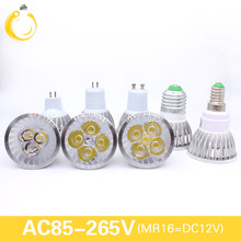 Ultra Bright 9W 12W 15W GU10 MR16 E27 E14 LED Bulb 85-265V Dimmable Led Spotlights Warm/Natural/Cool White LED lamp 110V 220V