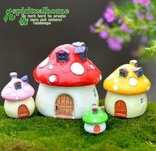 Artificial Mushroom house  for House Decorative Craft Creative Desktop Ornaments / Micro Landscape Gifts Figurine
