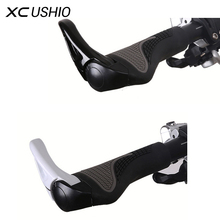 Bicycle Mountain Bike Ergonomic Bicycle Grips Handlebars Rubber Grips &Aluminum Handle Bar Adjustable Black White Bicycle Parts
