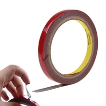 Best Price New Hot 3metres x10mm Auto Truck Car Foam Double Sided Stickers Attachment Adhesive Tape Red Tape