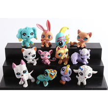 NEW 12pcs/set Action Figures Toys Little Pet Shop Mini Toy Animal Cat dog Pet Collection Action Figures Kids toys kids gifts(China)