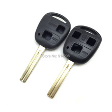 TEMREIPO 2pcs/lot Car Keys For Lexus Remote Key Shell Blank Replacement Key Uncut TOY40 46mm blade fob