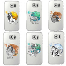 Cartoon zodiac sign Soft silicone TPU thin transparent Phone Case Cover For Samsung S5 S6 S7 Edge S8 S8 P
