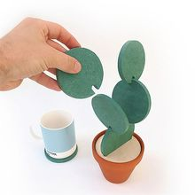 New DIY Table Decoration Novelty Cup Heat Insulation Mat Heat Insulation Cactus Potted Coasters Nonslip Pad(China)