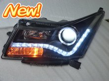 UPGRADE good for your!2012 HOT!for 09 CRUZE Audi A8 UPGRADE Style HID xenon LED v2 headlight/headlamp Assemblyangel eyes halo