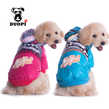 Dog Pet Autumn And Winter Warm Clothes Rose red Blue Color S-XXL Sizes Dog Coat Hoodies Thicken Winter Down Jackets For Puppy