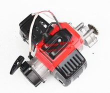 49CC COMPLETE ENGINE 2 STROKE SUPER POCKET BIKE Electric start RED