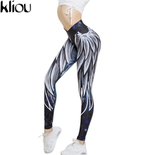 Kliou 2017 Harajuku wing Print Leggins Push Up Fitness Sexy Cartoon 3d Graffiti Women Casual Funnysporting Leggings(China)